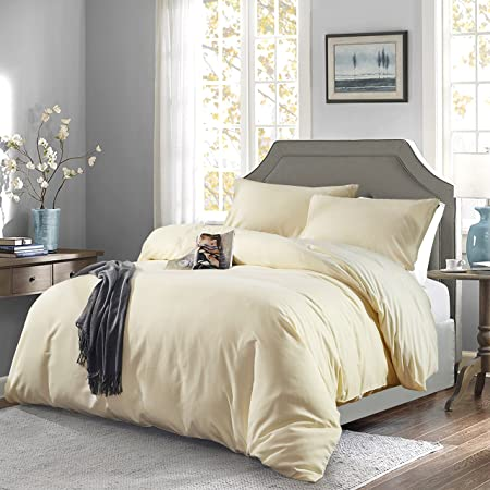 Chezmoi Collection Berlin 3 Piece Pintuck Duvet Cover Set Queen White Home Kitchen