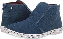 Precise Girls Lt Blue Denim Steve Madden Sneakers W/ Appliqués W/ Box Size 5