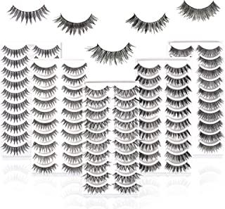 50 Pairs 5 Styles MUSELASH False eyelashes set professional 100% Handmade natural, glamorous, demi wispies, wispies, volum...