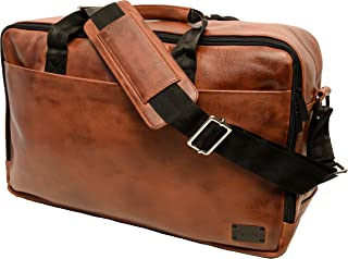 Crone Berlin Echtleder Messenger Bag Vintage Leder Business Umhängetasche Handgepäck Laptop Tasche