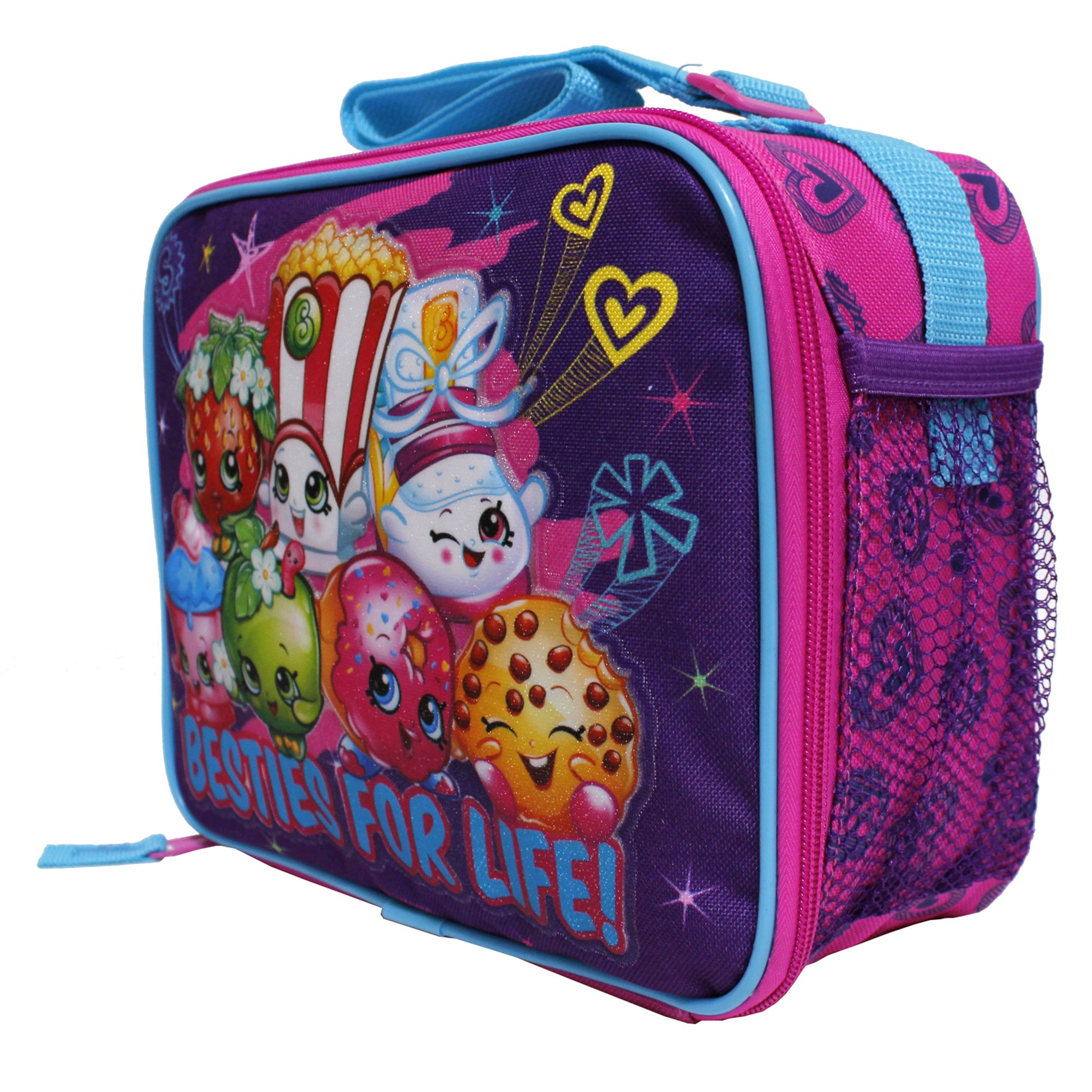 Girls Canvas Insulated Lunch Bag 52366 Moose Shopkins Besties for Life