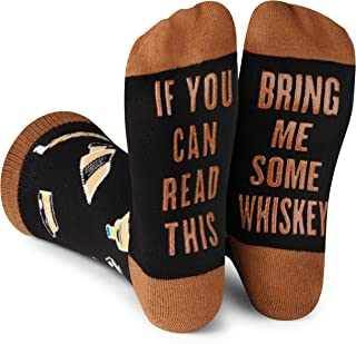 Lavley – If You Can Read This Bring Me Novelty Socks – Funny Dress Socks For..