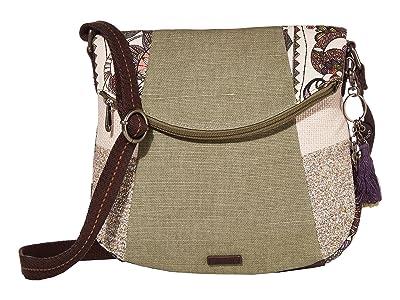 Sakroots Artist Circle Foldover Crossbody (Pastel Spirit Desert 2) Cross Body Handbags