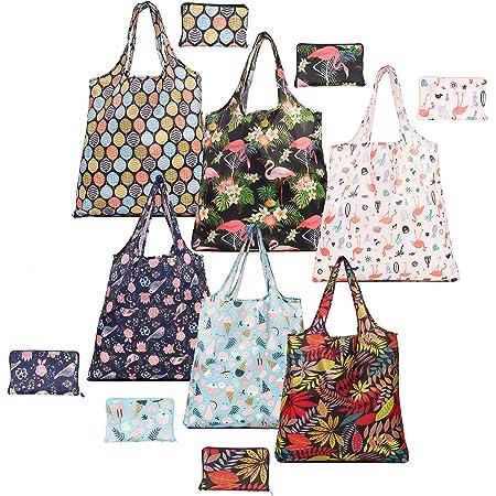 A 4 Pezzi Borsa per la Spesa Riutilizzabile Shopping Bag Ecologica Pieghevole da Viaggio Allaperto Borsa per la Spesa Riutilizzabile Pieghevoli