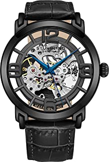 Stuhrling Original Men's 165B2.335569 Winchester 44 Automatic Skeleton Black Dial Watch
