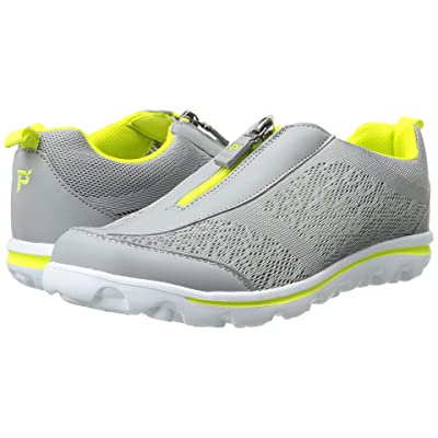 Propet TravelActiv Zip (Silver/Lime) Women