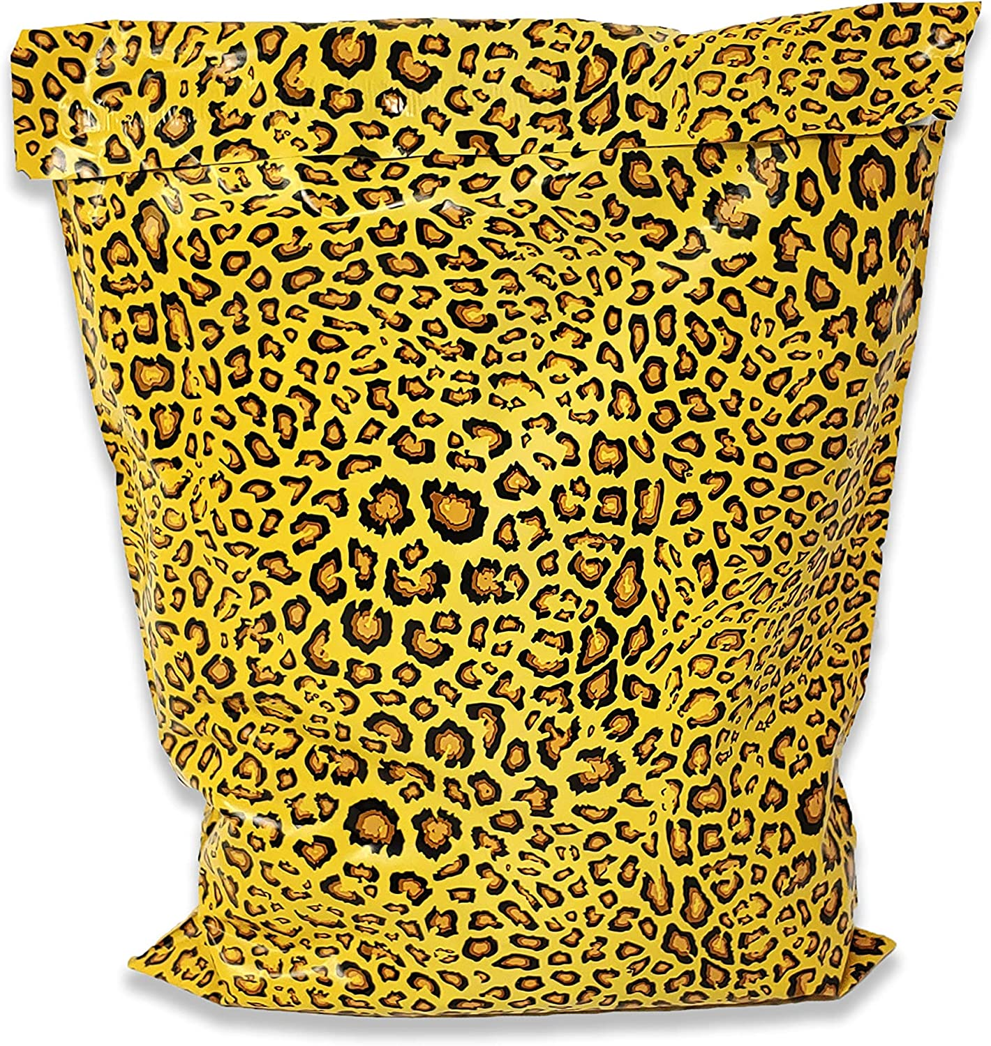 Fees free!! 10x13 14x17 Inch 100 Pack Leopard Print Latest item E Poly Cheetah Mailers