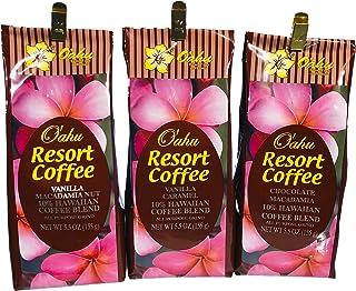 【オアフリゾートコーヒー】【フレーバーコーヒー 粉】3種セットA 各155g  送料無料 コーヒーギフト ハワイ お土産 プレゼント 贈り物 ギフト