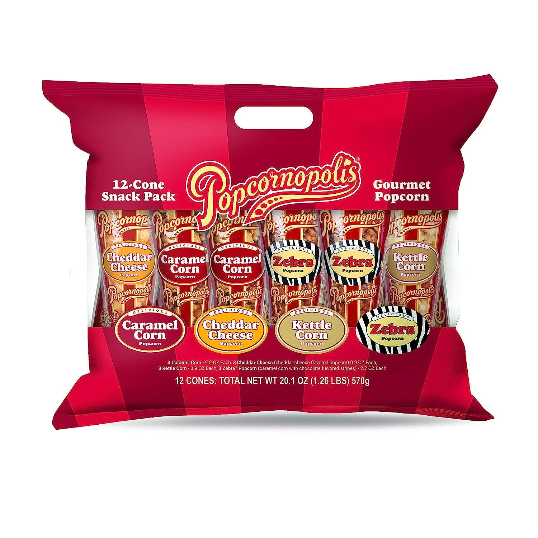 Popcornopolis Gourmet Popcorn Finally popular brand Snacks 12 Regular store Variety Snack Pack Cone
