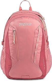حقيبة ظهر للسيدات من JanSport مطبوع عليها صورة أغاف، ألوان موف متوهجة/وردي داكن