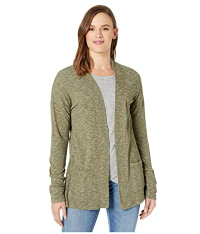 tentree Alouette Long Sleeve Cardigan (Olive Night Green Marled) Women