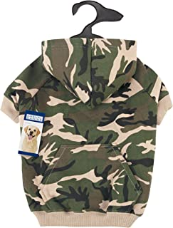 Casual Canine Camo Hoodies (Pack of 6), X-Small through Large, Green