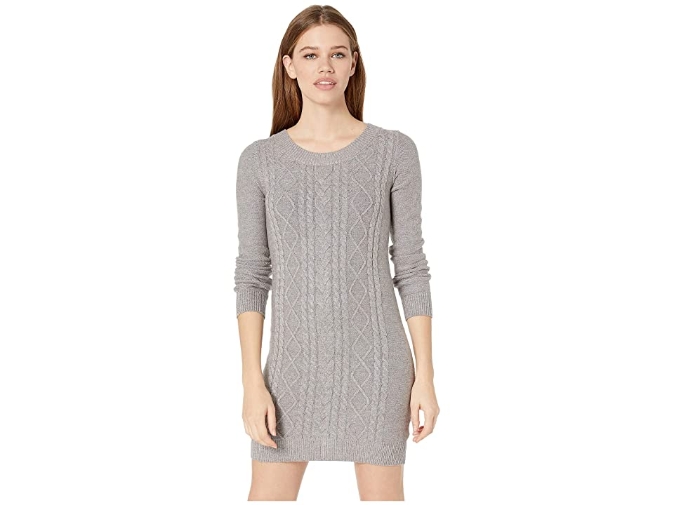 Jack by BB Dakota Keeps Getting Sweater Cable Knit Dress (Light Heather Grey) Women