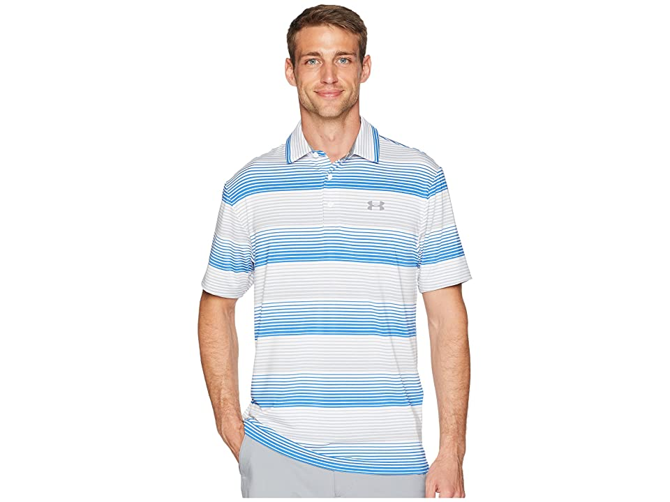Under Armour Golf UA Playoff Polo (White/Overcast Gray/Overcast Gray) Men