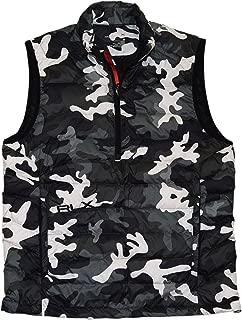 Ralph Lauren Polo RLX Men Full Zip Down Puffer Jacket Vest Camo Black Grey Large