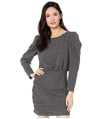 La Vie Rebecca Taylor Long Sleeve French Terry Dress (Dark Charcoal Heather) Women
