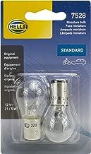 HELLA 7528TB Standard-21/5W Standard Miniature 7528 Bulbs, 12V, 21/5W, 2 Pack