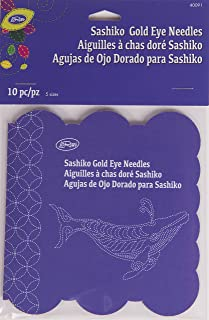 Loran Sashiko Gold Eye Nadeln 10 ct.