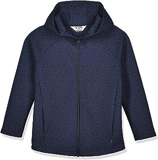 Kid Naton Kids Cozy Interlock Full Zip Hooded Sweatshirt with Pockets for Boys or Girls,Age(4-12Years)