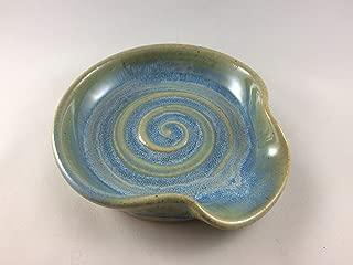 Spoon Rest, Ceramic Spoon Rest in Opal Blue