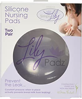 LilyPadz® Reusable Silicone Nursing Pads Double Pair Regular Size