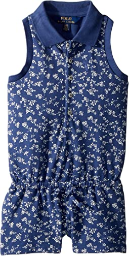 Floral Stretch Mesh Romper (Toddler)