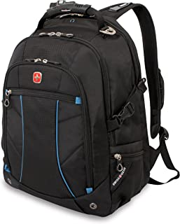 Swiss Gear SA3118 Black with Blue Laptop Backpack - Fits Most 15 Inch Laptops and Tablets