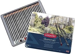 أقلام رصاص جرافيتين من ديروينت، علبة معدنية، 24 قطعة (0700803)