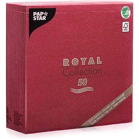 Papstar Servietten Tissueservietten Bordeaux Royal Collection 40 X 40 Cm 1 4 Falz Fsc Zertifiziert Stoffoptik Für Gastronomie Feste Und Haushalt 11608 1 X 50er Pack Bürobedarf Schreibwaren
