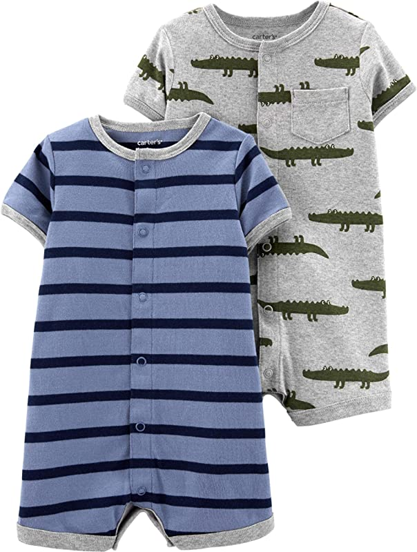 Carter S Baby Boys 2 Pack Snap Up Romper
