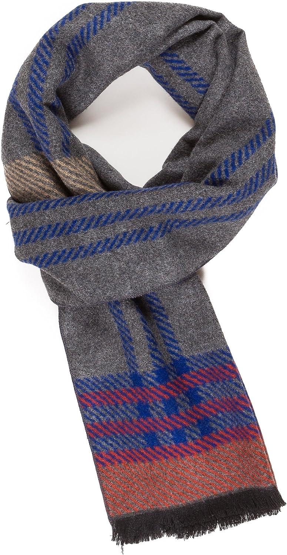 Scarf for Men Reversible Elegant Classic Cashmere Feel Scarves for Fall Winter