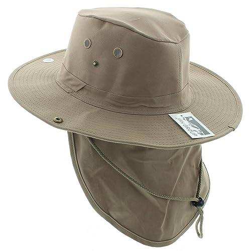 JFH Wide Brim Bora Booney Outdoor Safari Summer Hat w Neck Flap   Sun  Protection e8e2cade4354
