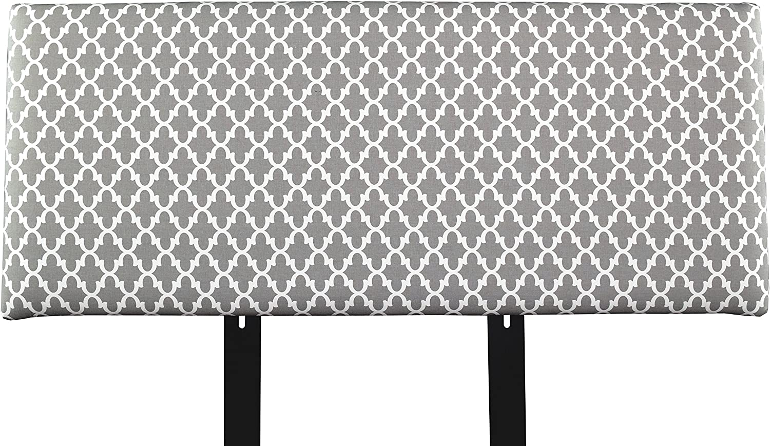 MJL Furniture Designs Alice Padded Styled Bedroom Décor, Fulton Series Headboard, Storm Finish, Full Sized,