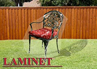 LAMINET Crystal Clear Heavy-Duty Waterproof Plastic Outdoor Furniture Cover - Chair Cover - 3 Season Protection - Keep Rai...