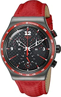 Swatch Women's YVM401 Rosso Fuoco Year-Round Chronograph Quartz Red Watch