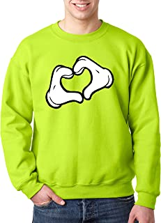 New Way 028 - Crewneck Mickey Heart Cartoon Hands Unisex Pullover Sweatshirt