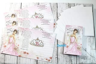 Invitations Princess Crown A Mis Quince Anos Quinceanera 15 Mi Primera Comunion Invitaciones de A Mi Bautizo Spanish Baptism Christening Party Favors Communion (24)