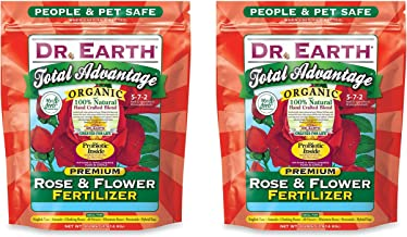 product image for Dr. Earth 702P Organic 3 Rose & Flower Fertilizer in Poly Bag, 4-Pound (2-Pack)