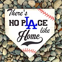 Quote Sign Dodgers Dodgers Sign La Dodgers Dodgers Baseball Sign There's No Place Like Home Baseball Home Plate Wood Hanging Plaque for Living Room