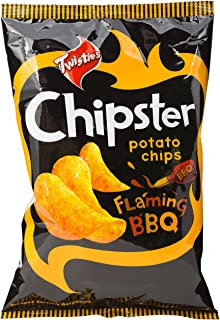 Twisties Chipster Flaming BBQ Potato Chips, 160g
