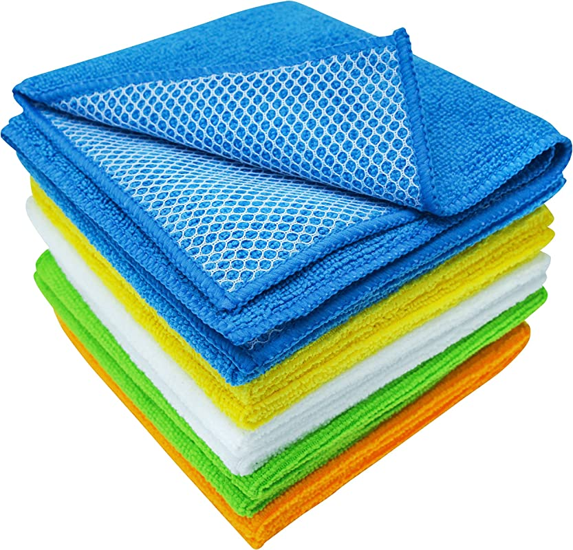 S T 598501 Dish Cleaning Cloth With Poly Scour Side 10 Pack