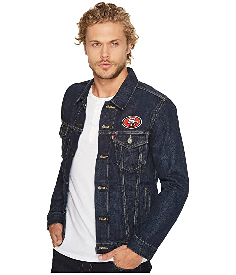 Levi's® Mens 49ers Sports Denim Trucker Blue With Paypal uwzd4