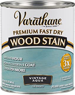 Varathane 297427 Premium Fast Dry Wood Stain, 32 oz, Vintage Aqua