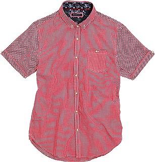 Brave Soul Mens Enrico Buttoned Brushed Check Shirt Black