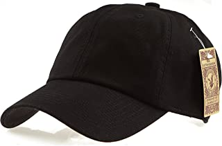 0195d71be2e06 RufnTop Black Eagles 100% Cotton and Denim Washed Classic Dad Hat Plain  Dyed Low Profile