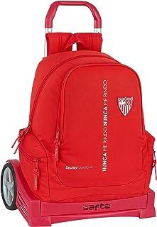 Mochila Safta 662 Espalda Ergonómica con Carro Safta Evolution de Sevilla FC Corporativa, 320x170x430mm