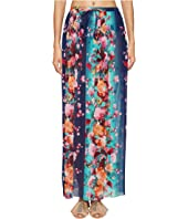 FUZZI Single Layer Flower Print Skirt