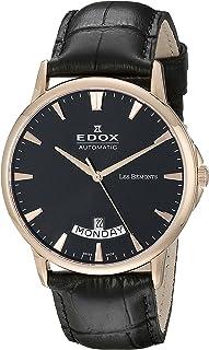 EDOX - Reloj Analogico para Hombre de Automático con Correa en Cuero 83015-37R-NIR