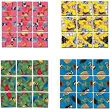 Scramble Squares B Dazzle Animals Puzzle Set - 4 Puzzles Included - Puppies, Kittens, North American Birds, and Tropical Fish