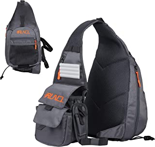 RUNCL Fishing Tackle Storage Bag, Fly Fishing Sling Pack, Sports Backpack - Tournament Proven, Angling-Specific Design, Ergonomic Design- Storage Organizer, Over Shoulder Bag for Kayak Fishing